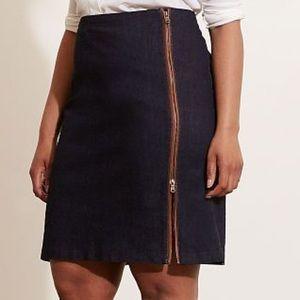 Lauren Ralph Lauren Zip Detail Denim Pencil Skirt